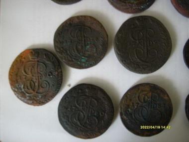 Аппликации медных монет